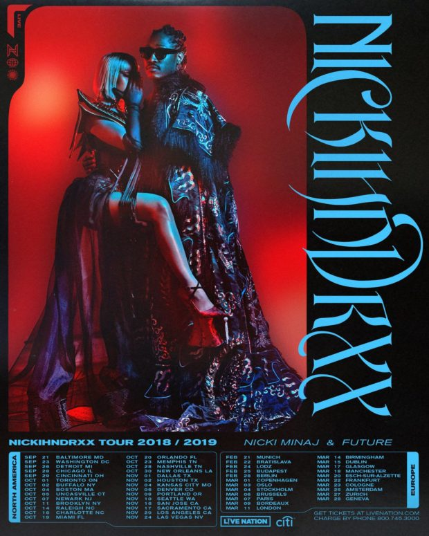 nicki minaj future nickhndrxx tour poster