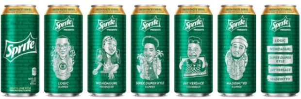 sprite fresh faces series cans